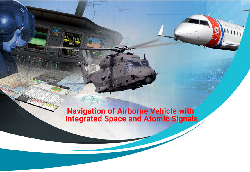 Navigation of Airborne Vehicle with Integrated Space and Atomic Signals