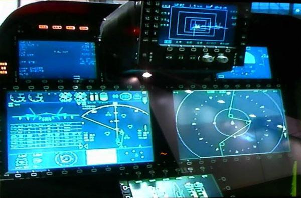 نمایشگرهای کابین خلبان J-20