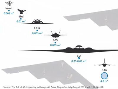 سطح مقطع راداری چند هواپیما از دید مقابل با پرنده و حشره