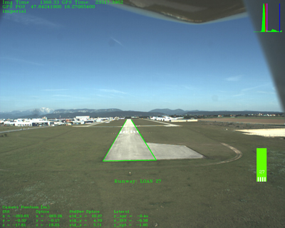 تشخیص و تنظیم هواپیما روی خط مرکز باند توسط دوربین با نور مرئی